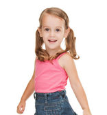 Litle girl in casual clothes — Stock Photo