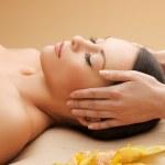 Beautiful woman in massage salon — Stock Photo #20484133