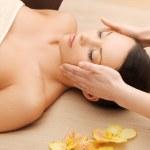 Beautiful woman in massage salon — Stock Photo #20484477