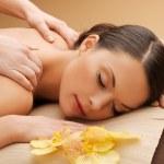 Beautiful woman in massage salon — Stock Photo #20485099