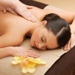 Beautiful woman in massage salon — Stock Photo #20485427