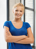 Happy and smiling teenage girl — Stock Photo
