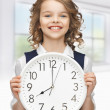 Girl with big clock - Photo