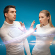 Man and woman working with magic — Stock Photo #21518081