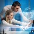 Man and woman in laboratory — Stock Photo #21518111