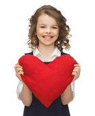 Girl with big heart — Stock Photo