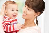 Mutlu anne ile bebek — Stok fotoğraf