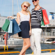 Royalty-Free Stock Photo: Young couple in duty free shop