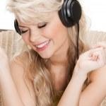 Woman with headphones — Stock Photo #22186045