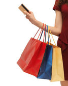 Picture of woman with shopping bags — Photo