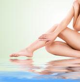 Healthy beautiful woman legs — Stock Photo