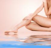 健康美丽的女人的腿 — 图库照片