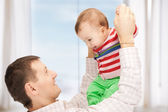 Happy father with adorable baby — Stock Photo