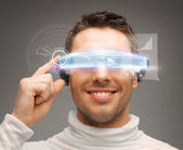 Businessman with digital glasses — Stock Photo