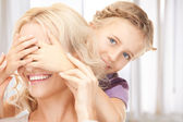 Happy mother and little girl — Stock Photo