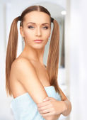 Lovely woman in towel — Stock Photo