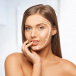 Face and hands of beautiful woman — Stock Photo #24684065