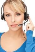 Operador amistoso femenino helpline — Foto de Stock