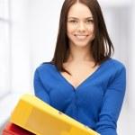 Woman with folders — Stock Photo #25009729