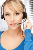Operatore helpline femminile amichevole — Foto Stock