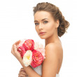 Woman with bouquet of flowers — Stock Photo #25107937