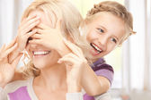 Happy mother and little girl — Foto Stock