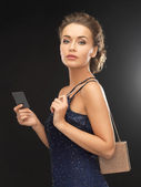 Woman in evening dress — Stock Photo