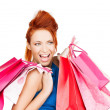 Excited woman with shopping bags — Stock Photo #25368601