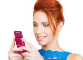 Woman with cell phone — Foto de Stock