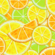 Citrus background - Stock Photo