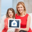 Mother and daughter with tablet pc — Stock Photo #25458311