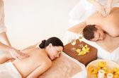 Casal no spa — Foto Stock