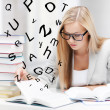 Student with books and notes — Stock Photo #25760961