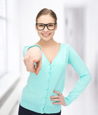 Student with eyeglasses — Foto Stock