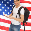 Stock Photo: Travelling student