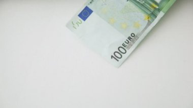 A lot of falling 100 euro money notes — Stock Video