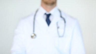 Footage of professional doctor breaking the cigarette — Stock Video