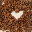 Coffee beans on the textile background — ストック写真