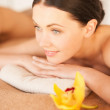 Woman in spa - Stock Photo