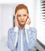 Stressed woman — Foto Stock
