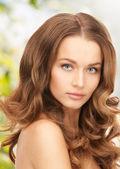 Beautiful woman with long hair — Foto de Stock