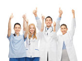 Professional young team or group of doctors — Stockfoto