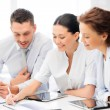 Business team working with tablet pcs — Stock Photo