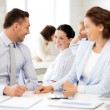 Business team discussing something in office — Stok Fotoğraf #27516845