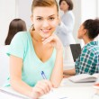 Student girl at school — Stock Photo