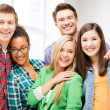 Group of students at school — Stock Photo #27720033