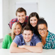 Group of students at school — Stock Photo #28016565