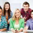 Group of students at school — Stock Photo #28072021