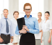 Businesswoman with tablet pc in office — Стоковое фото