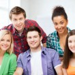 Stock Photo: Group of students at school